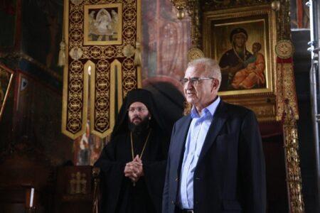 Ο Υφυπουργός Εξωτερικών Αντώνιος Διαματάρης στην Ι.Μ.Μ. Βατοπαιδίου