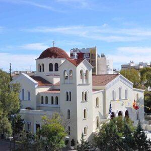 Ο Γέροντας Εφραίμ στον Ι.Ν. Παναγίας Βλαχερνών στο Κερατσίνι