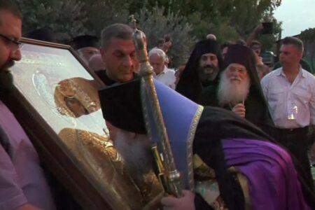 Υποδοχή της Ιεράς Εικόνος της Παναγίας Βηματαρίσσης στην Ι.Μ. Ταμασού και Ορεινής