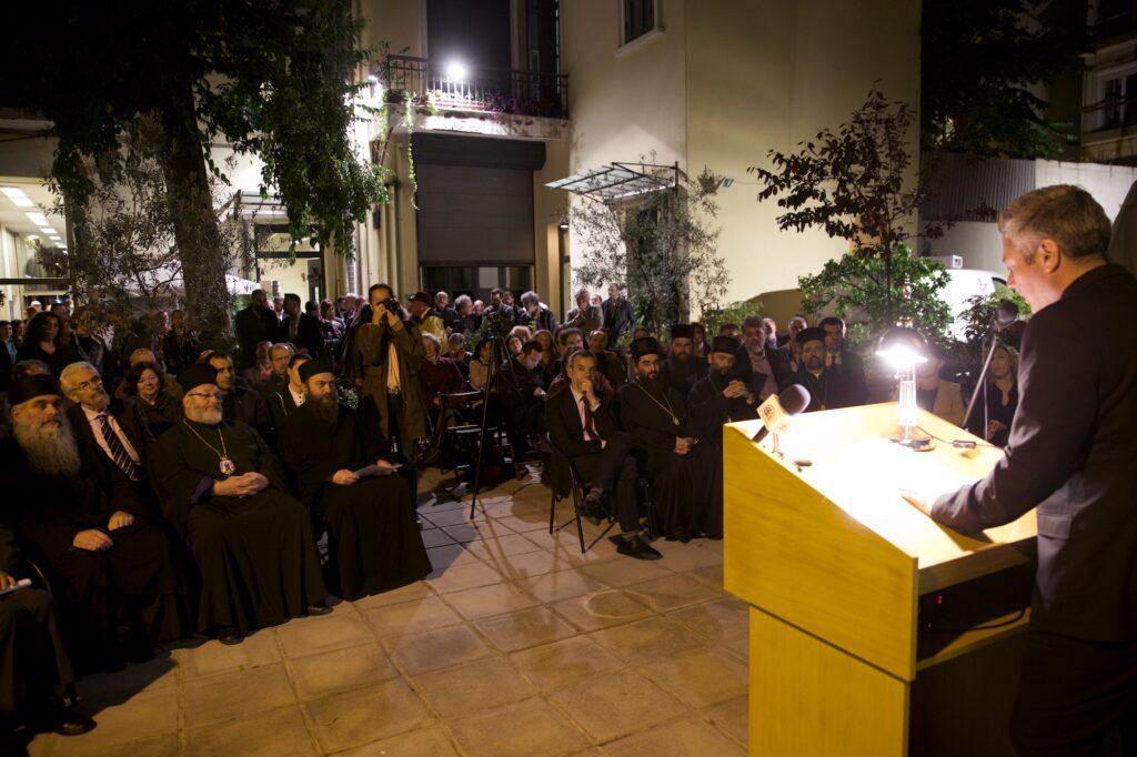 Ο Αγιορείτης Άγιος Σάββας ο Χιλανδαρινός. Σύχρονη Eικαστική Aποτύπωση.