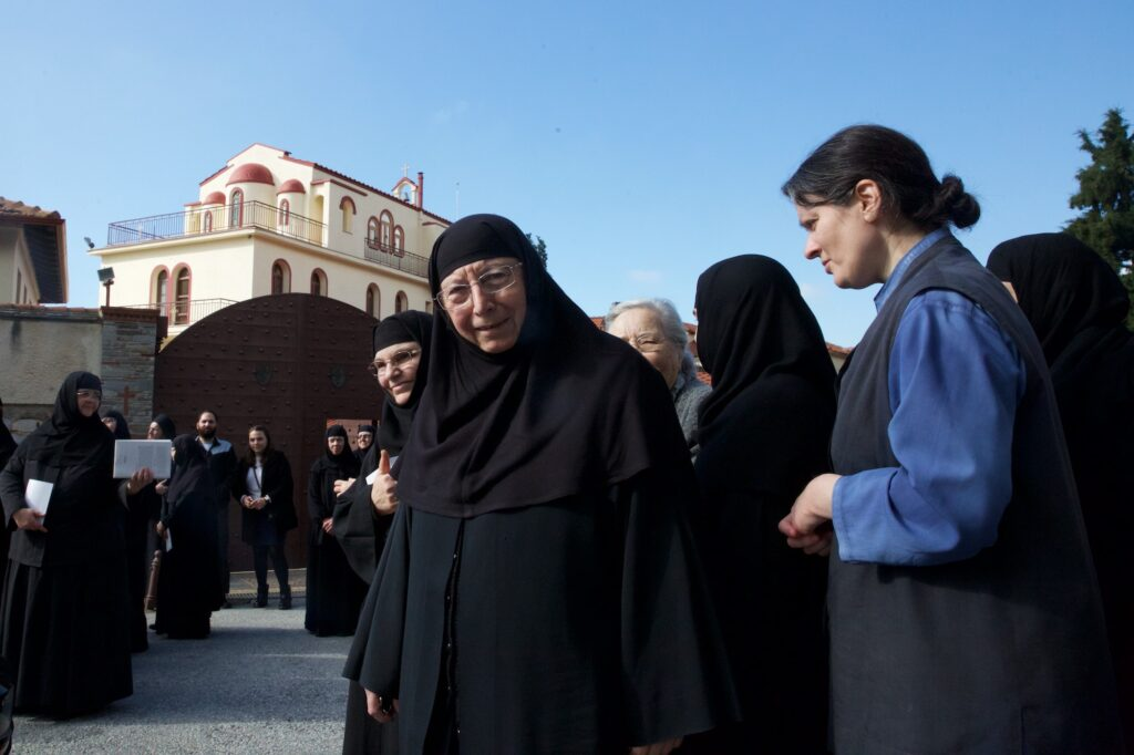 Στην Ιερά Μονή Κοιμήσεως της Θεοτόκου, στο Πανόραμα Θεσσαλονίκης, ο Άγιος Ιωάννης ο Χρυσόστομος