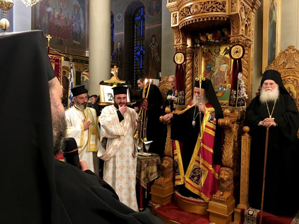 Υποδοχή τιμίας κάρας Αγίου Ιωάννου Χρυσοστόμου στη πόλη της Θεσσαλονίκης