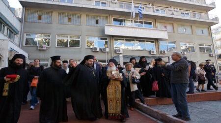 Η τιμία καρά του αγίου Ιωάννου του Χρυσοστόμου στο Θεαγένειο Νοσοκομείο προς ενίσχυση των ασθενούντων