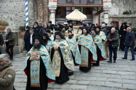 Η εορτή των Θεοφανείων στην Ιερά Μεγίστη Μονή Βατοπαιδίου