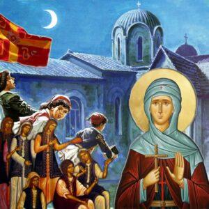 Η άχραντη κόρη των Αθηνών, Αγία Φιλοθέη