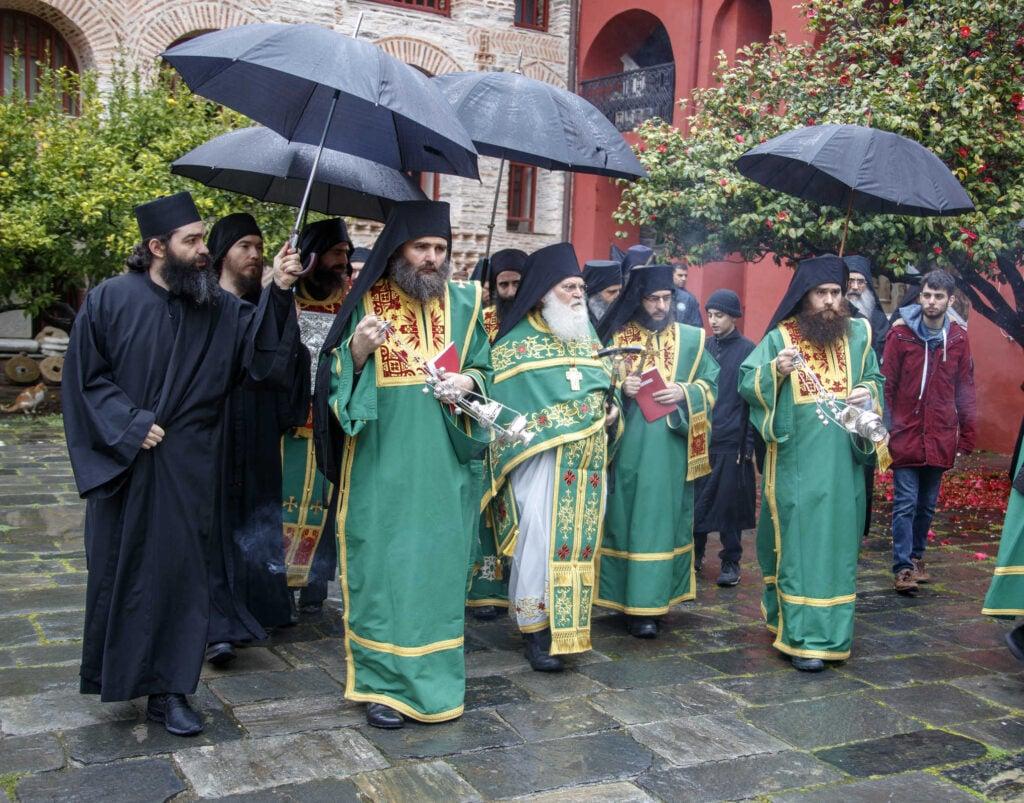 Στιγμές από την Παν-αγιορειτική Αγρυπνία υπέρ απαλλαγής από την πανδημία στην Ι.Μ.Μ. Βατοπαιδίου