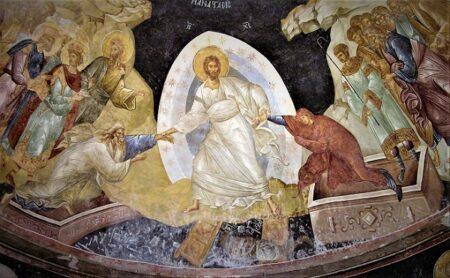 «Ἐπί τῆς θείας φυλακῆς», Ωδή δ΄- Καταβασίες του Πάσχα