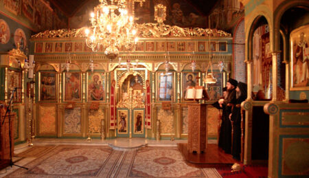 Όρθρος – Θεία Λειτουργία – Βατοπαιδινό Μετόχι Αγίου Νικολάου Πόρτο Λάγος (16/05/20)