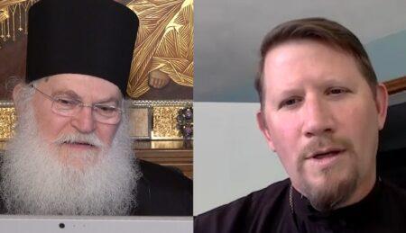 Διαδικτυακή συζήτηση του Γέροντος Εφραίμ Βατοπαιδινού με τον π. Ιωάννη Πάρκερ, Κοσμήτορα της Ιερατικής Σχολής Αγίου Τύχωνος Πενσυλβάνια
