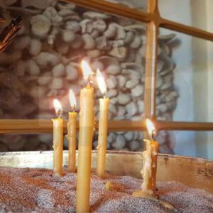 Μονή Αγίου Μηνά Χίου,  οι Μάρτυρες και τα τρία κυπαρίσσια