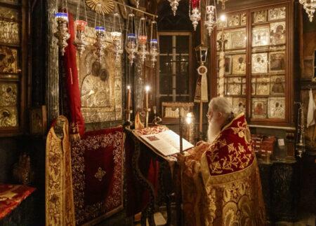 Οι Χαιρετισμοί της Παναγίας στην Ι.Μ.Μ. Βατοπαιδίου