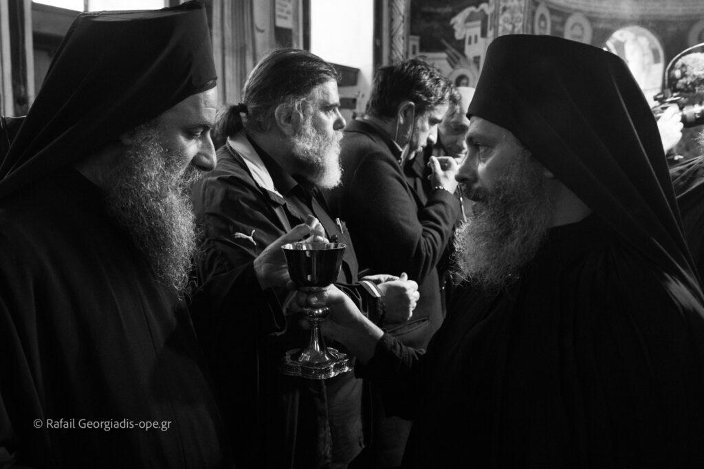 Στιγμές από την Αγρυπνία της εορτής του Οσίου Ευδοκίμου του Βατοπαιδινού