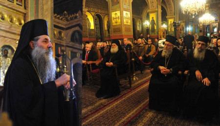 Προεόρτια ομιλία στον Ιερό ναό Ευαγγελίστριας Πειραιά